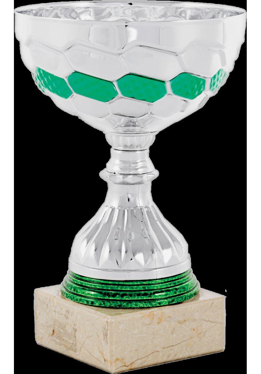 Trofeo cinta plata y verde