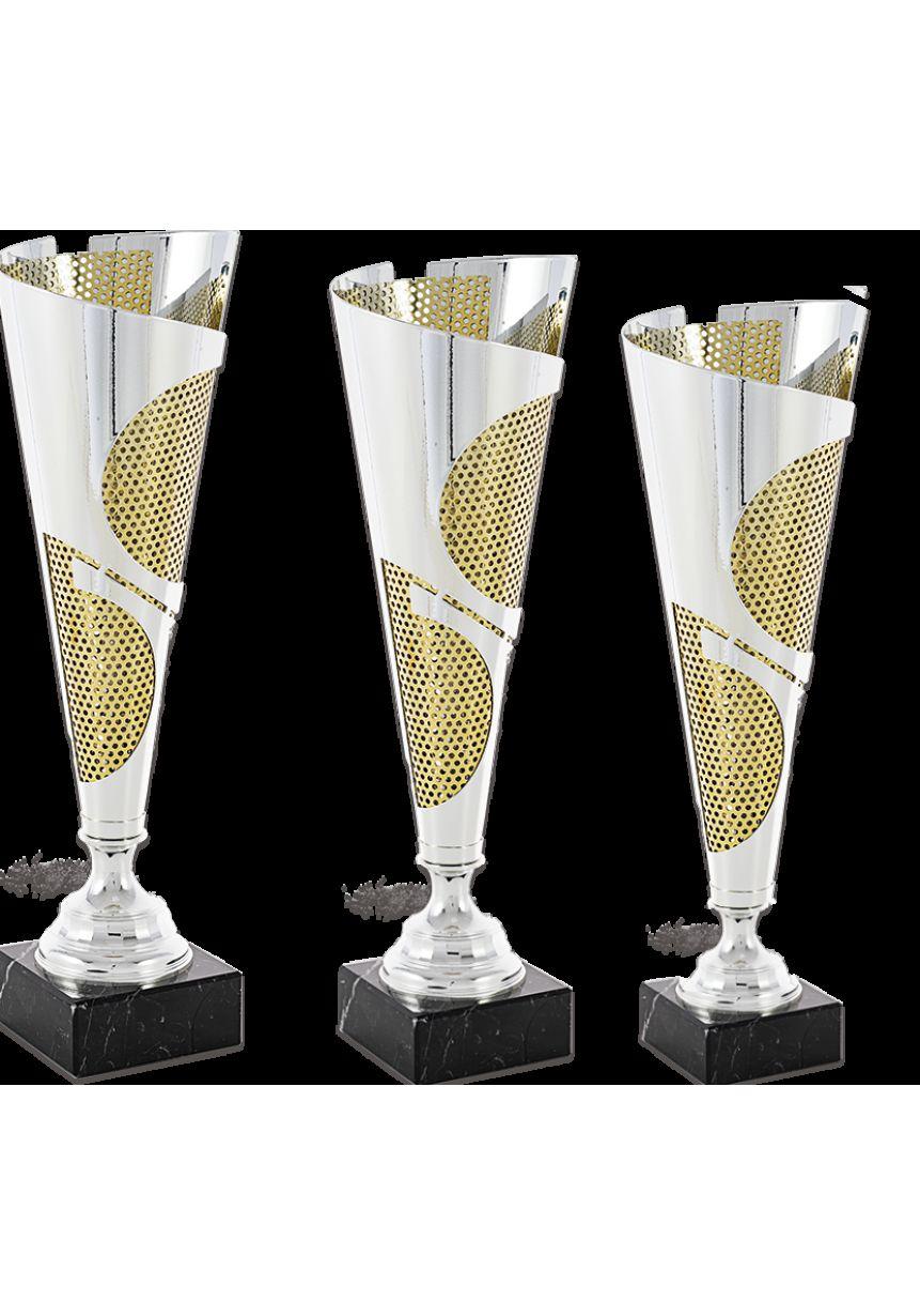 Trofeo copa corte geométrico Bicolor