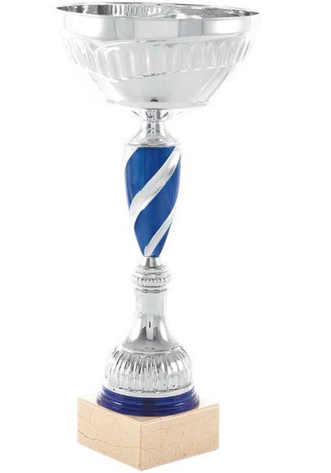 Trofeo bola en espiral azul