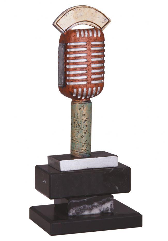 Trofeo microfono antiguo