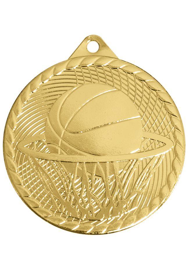 Medalla de baloncesto con relieve