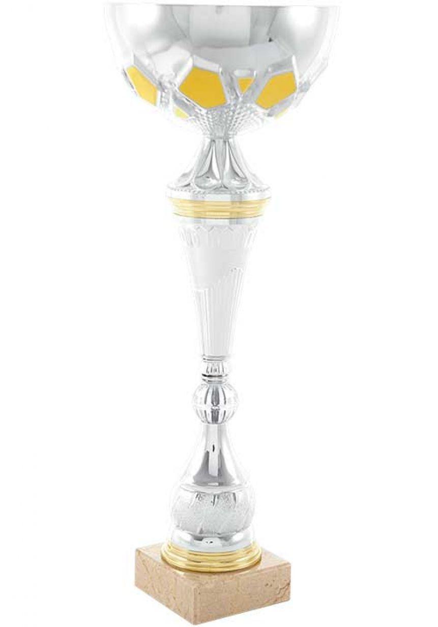 Trofeo copa de bola cónica dorada