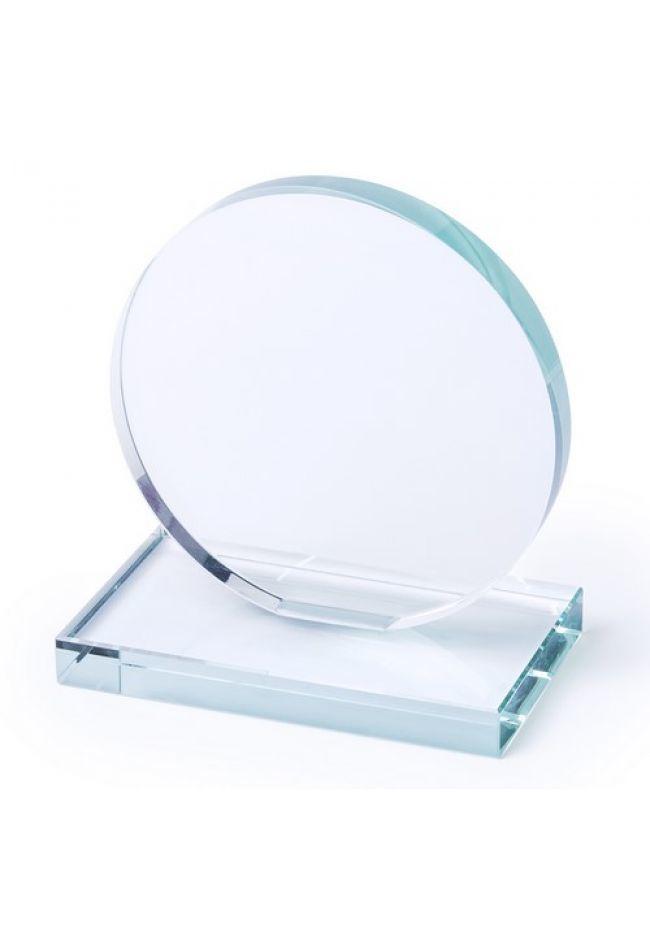 Trofeo Personalizado de Cristal con base plana