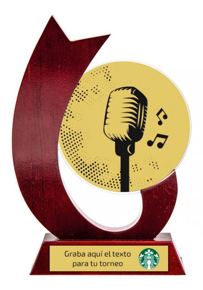 Trofeo para musica de cristal