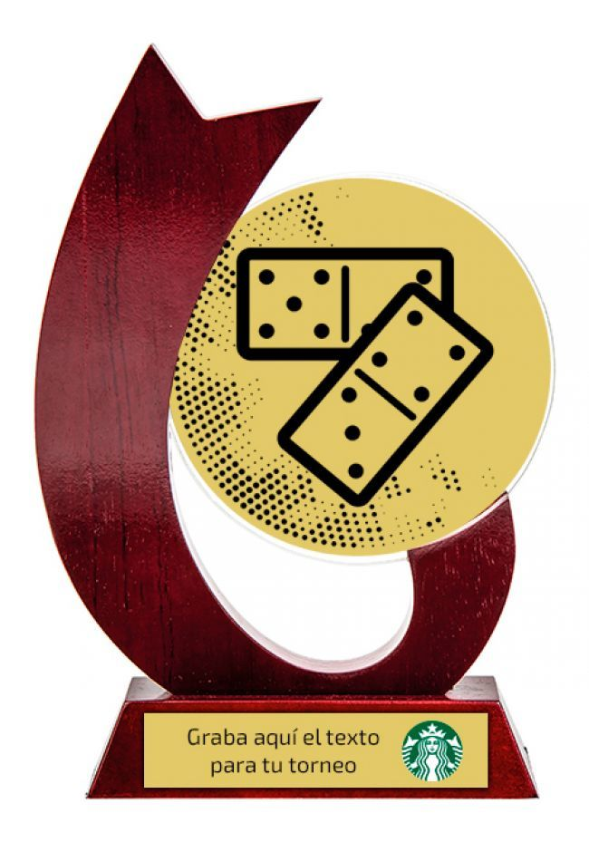 Trofeo para dominó de cristal