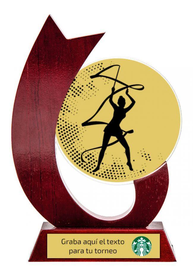 Trofeo para gimnasia rítmica de cristal
