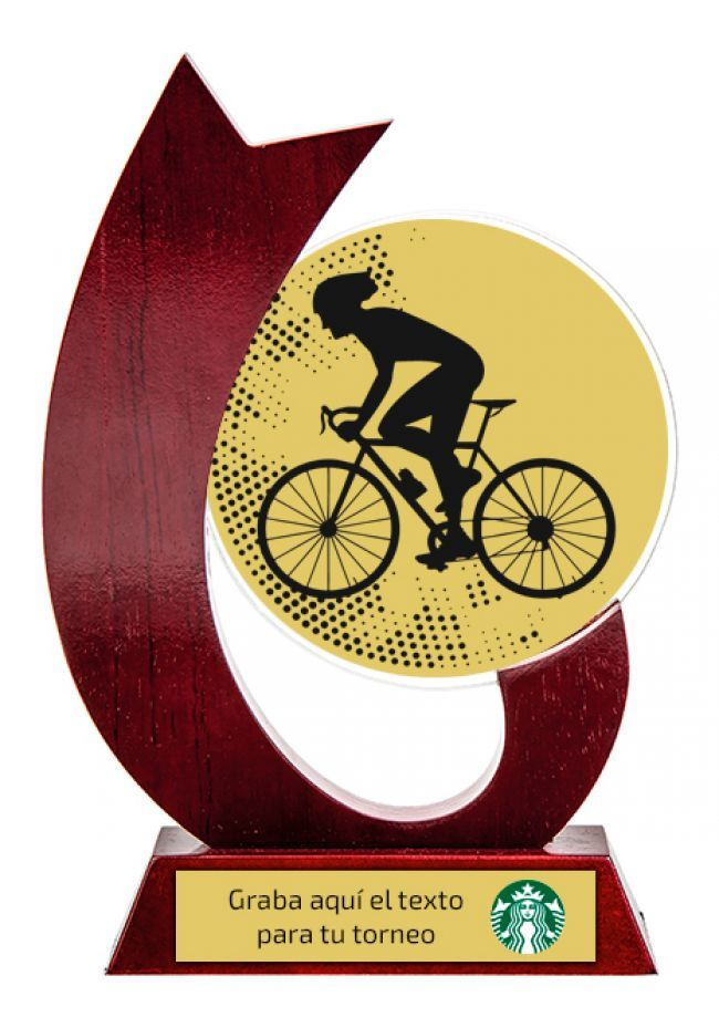 Trofeo para ciclismo de cristal