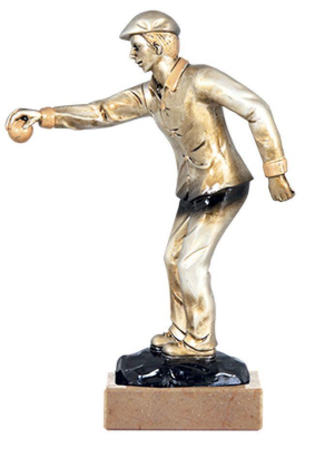 Trofeo resina figura  petanca