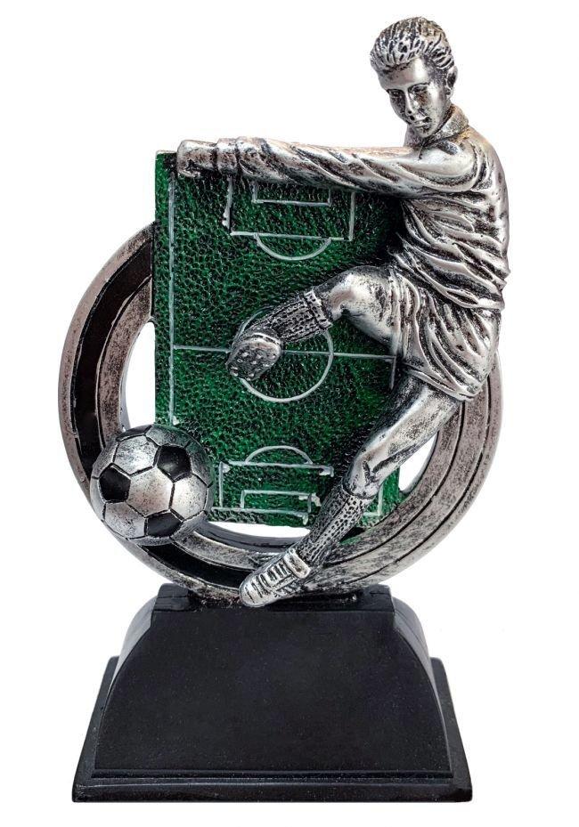 Trofeo deportivo de FÚTBOL con campo