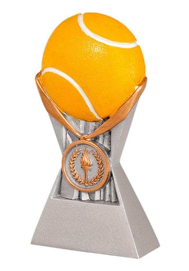Trofeo de Tenis en resina con relieve y pelota