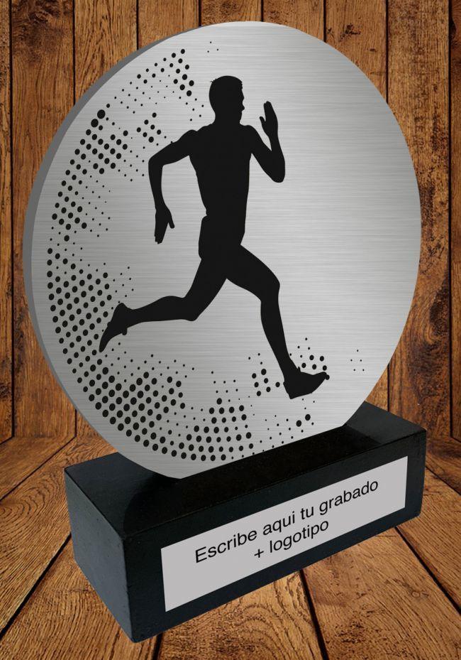 Trofeo de aluminio para Atletismo