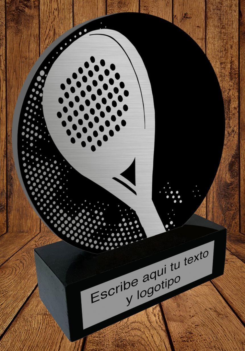 Trofeo de aluminio para Padel