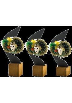 Trofeo máscara carnaval metal