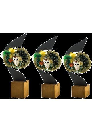 Trophy mask carnival metal