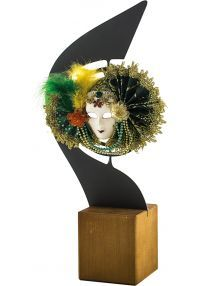 Trofeo máscara carnaval metal-1