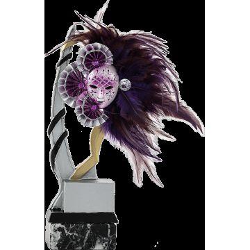 Troféu de Resina Aplique Máscara Roxa