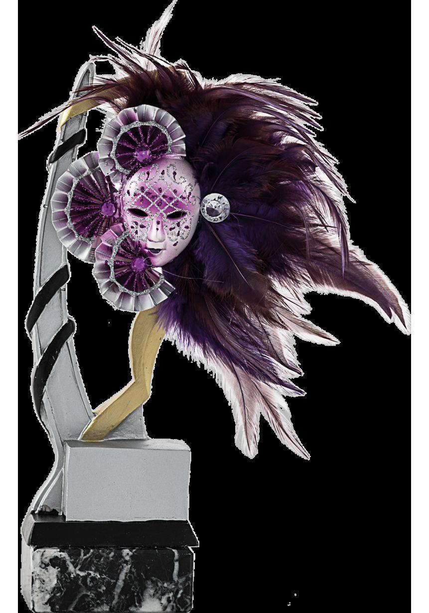 Résine Trophy Appliquer Masque Violet
