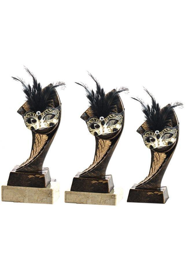 Trofeo Portadisco Resina Máscara