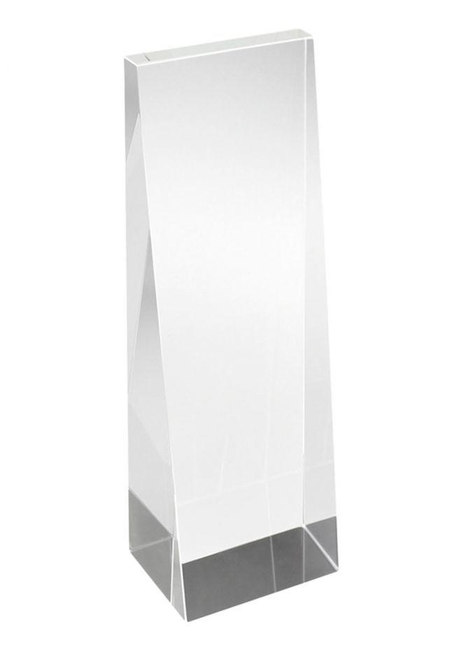 Trofeo cristal con forma de cuña