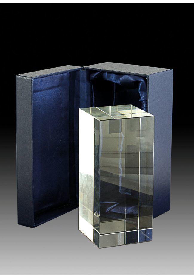 Trofeo de cristal prisma rectangular