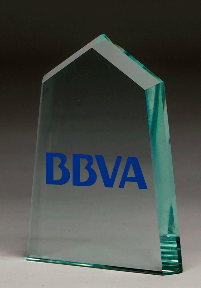Trofeo de cristal prisma color