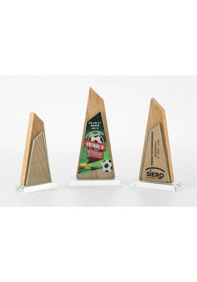 Trofeo de cristal/piedra pirámide