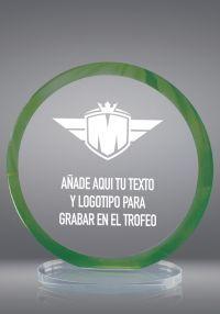Trofeo de cristal circular