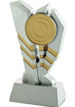 Trofeo portadisco bloque resina plata