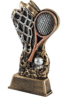 Trofeo raqueta tenis realizado resina