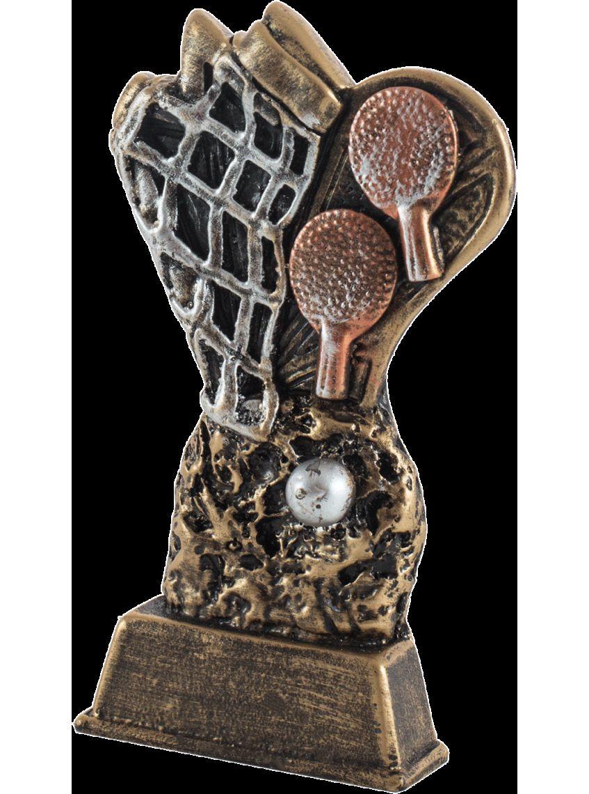 Trofeo ping-pong resina dorado
