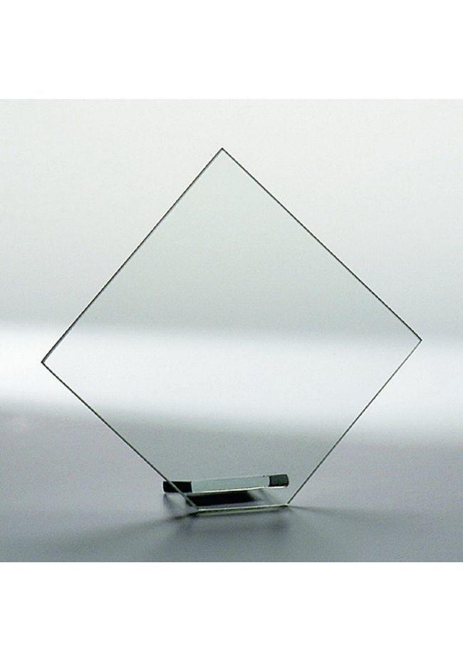 Trofeo de cristal personalizado rombo