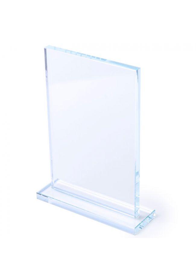 Trofeo de cristal rectangular base plana