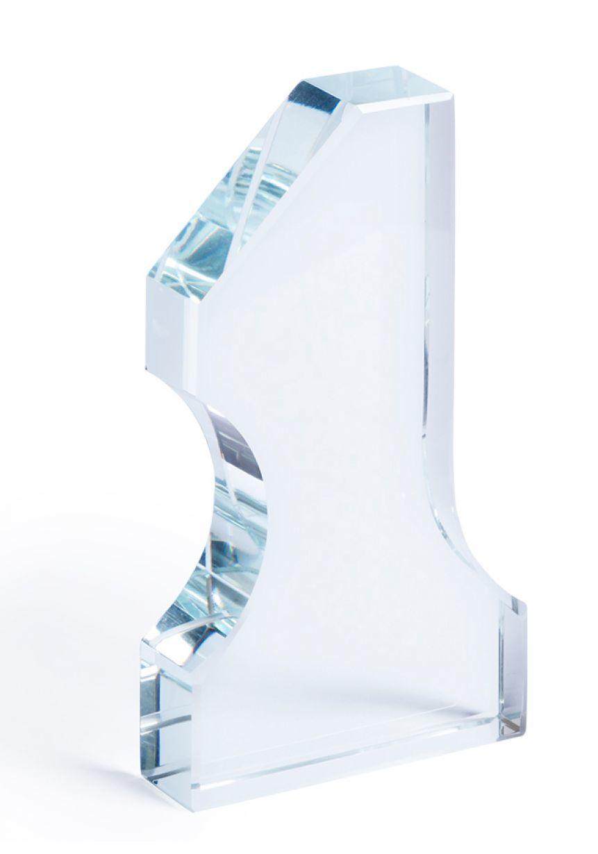 Trofeo Nº1 de cristal