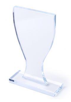 Trofeo con forma de copa de cristal