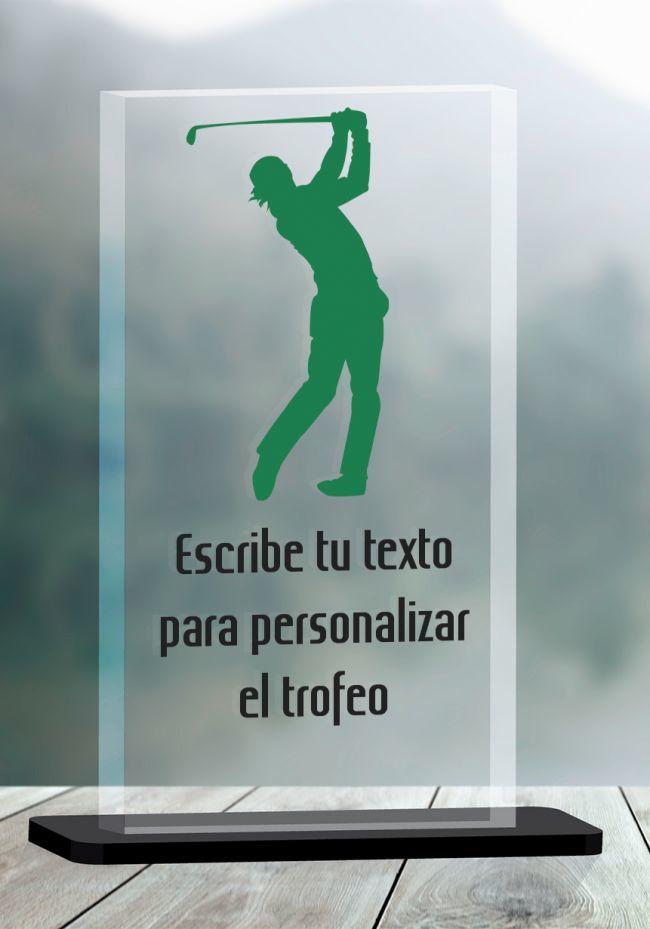 Trofeo de Golf en metacrilato