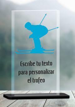 Trofeo de Ski en metacrilato