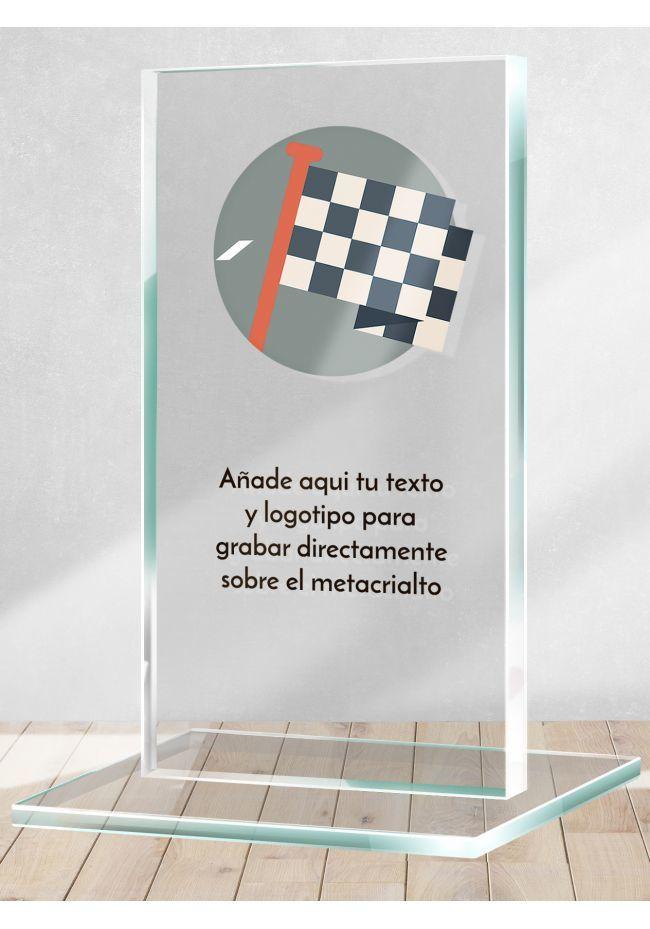 Motorcycle trophy in methacrylate