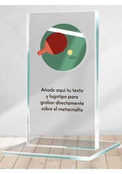 Trofeo de Ping Pong en metacrilato
