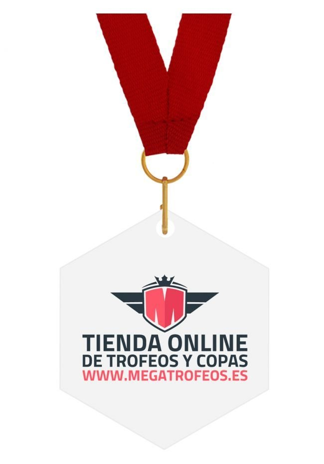 Medalla metacrilato Rombo