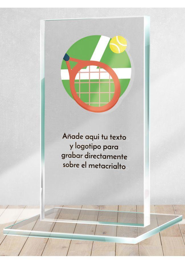 Tennis trophy in methacrylate