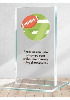 Trofeo de Rugby en metacrilato
