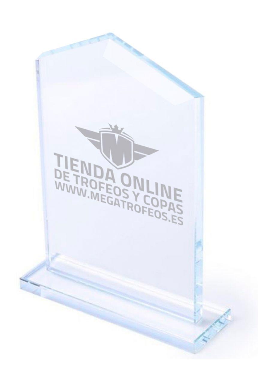 Trofeo de cristal en forma de pico