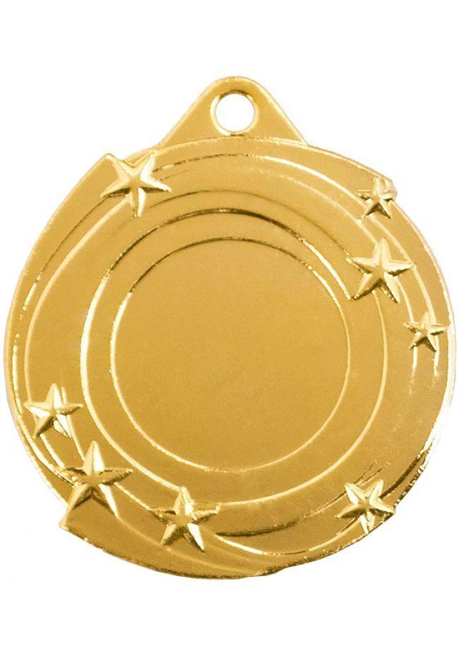 Medalla con estrellas deportiva