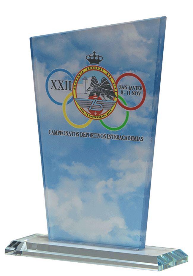 Trofeo Trapecio Cristal Color