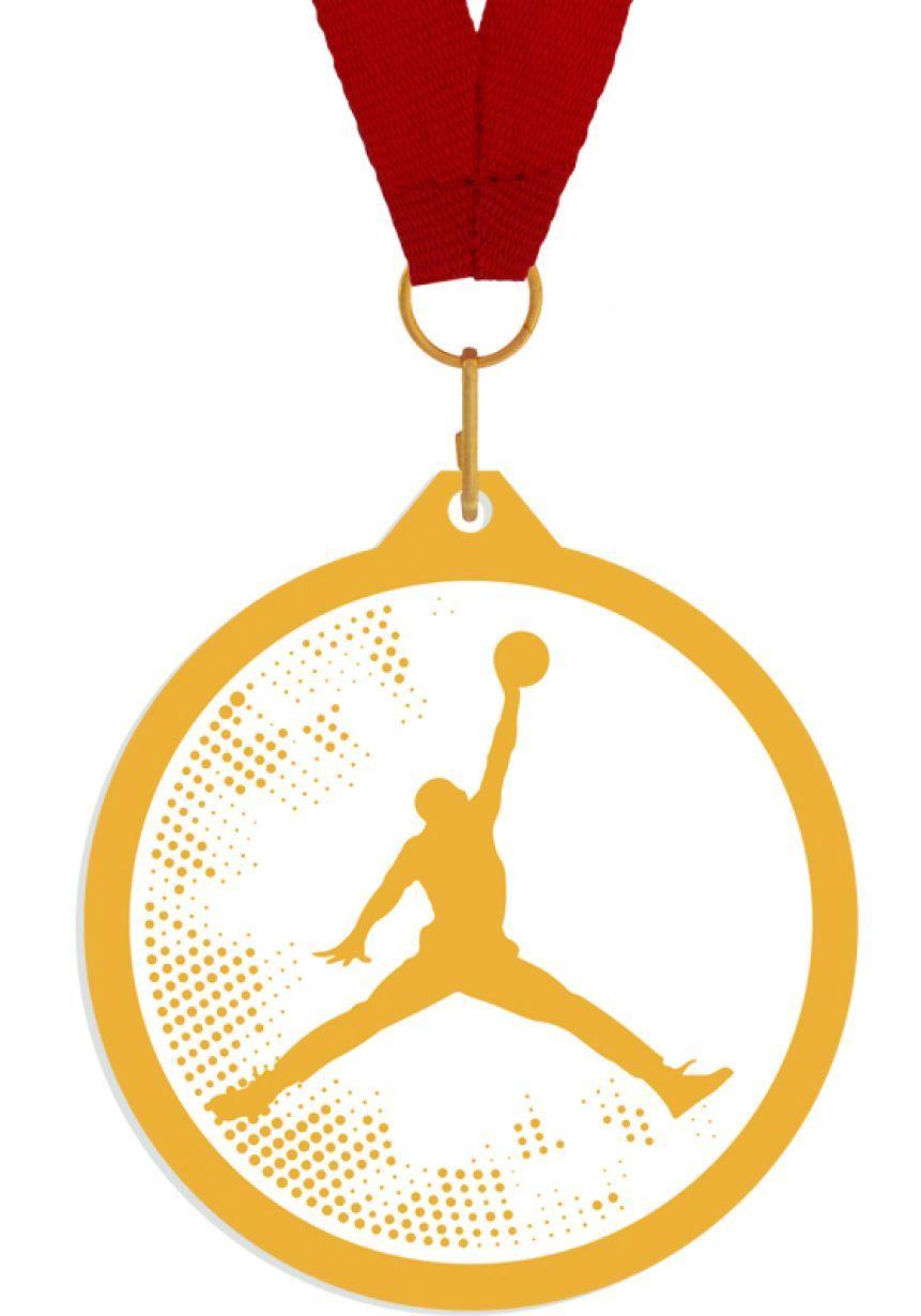 Medalla de metacrilato para baloncesto
