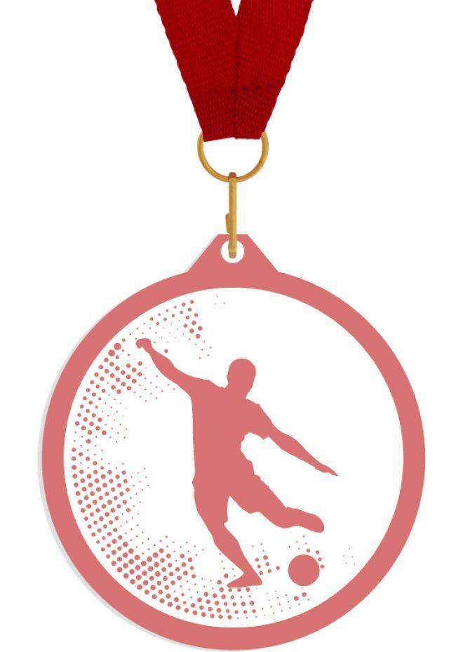 Medalla de metacrilato para futbol