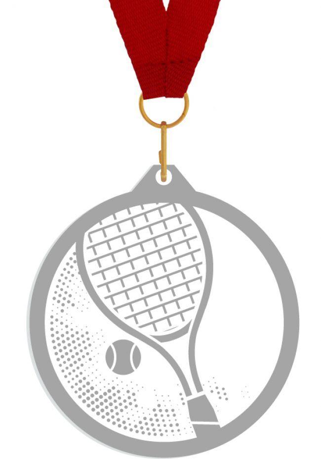 Medalla de metacrilato para tenis