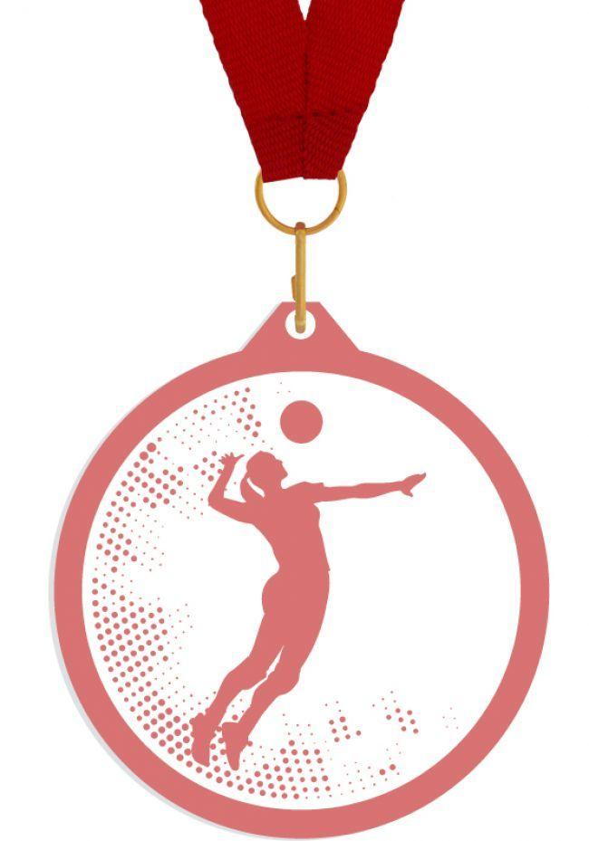 Medalla de metacrilato para voleibol