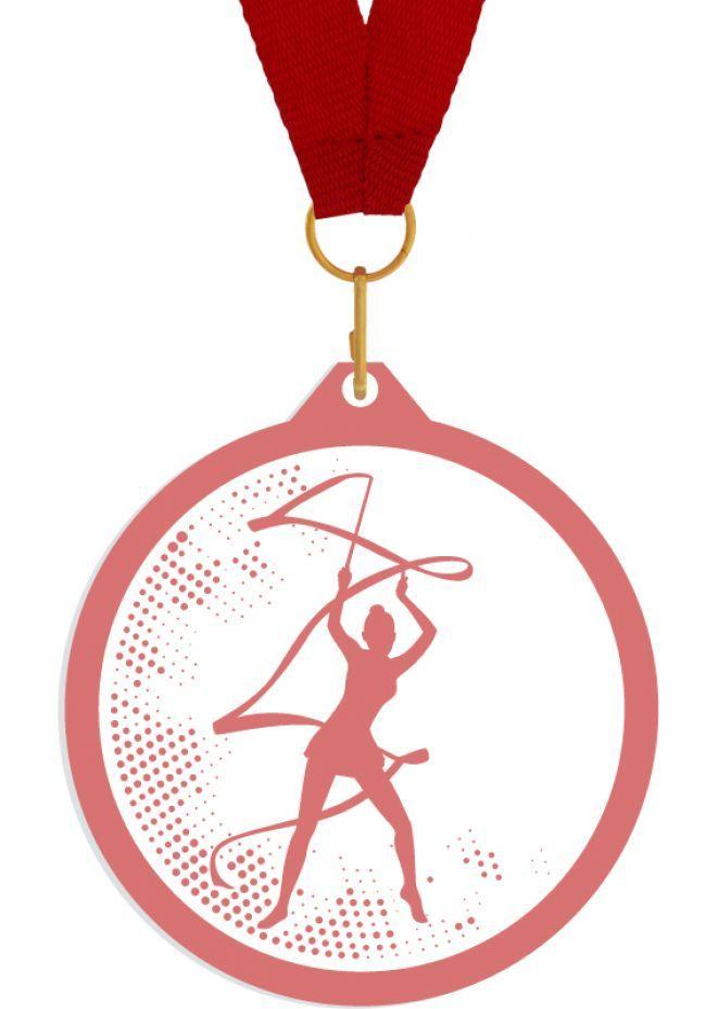 Medalla de metacrilato para gimnasia rítmica