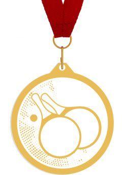 Medalla de metacrilato para ping pong